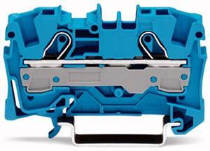 Wago rijgklem 2-draads 6 mm blauw (2006-1204)