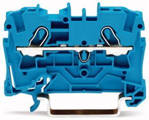 Wago rijgklem 2-draads 4 mm blauw (2004-1204)