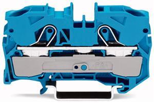Wago rijgklem 2-draads 10 mm blauw (2010-1204)