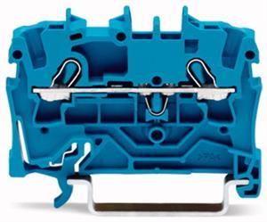 Wago rijgklem 2-draads 2,5 mm blauw 2002-1204