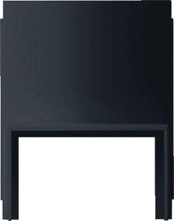 Gira Studio adapter kabelinvoer 1-v kanaal 20x30mm zwart