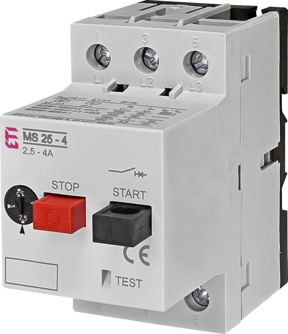 ETI motorbeveiligingsschakelaar MS25-4 2.5 - 4.0A (004600080)