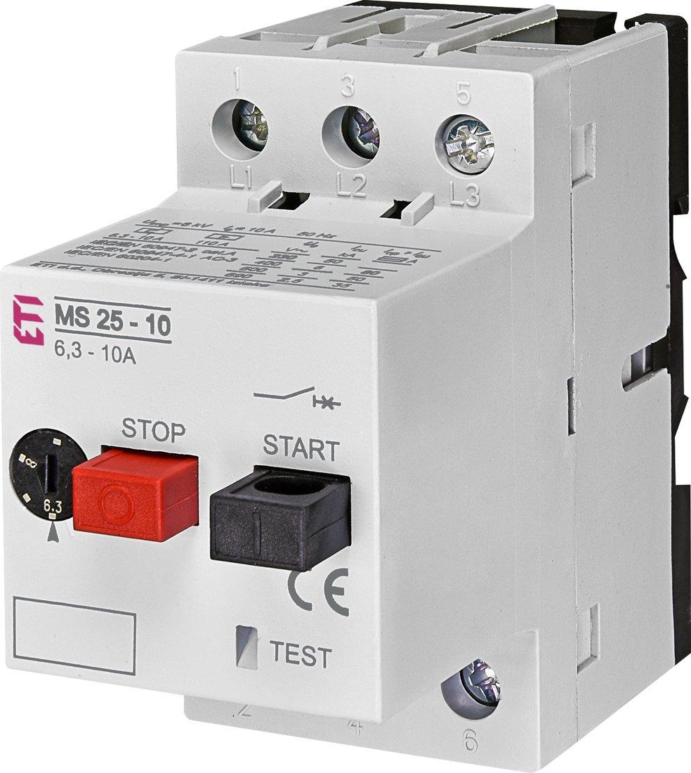 ETI motorbeveiligingsschakelaar MS25-10 6.3 - 10A (004600100)