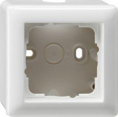 Gira opbouwbehuizing met afdekraam 1-voudig - zuiver wit glanzend (006103)