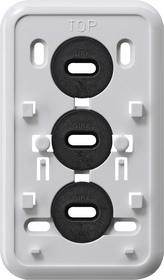 Gira Montageplaat Klik 2-voudige combinatie opbouw zuiver wit