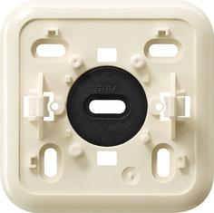 Gira Montageplaat click-it 1-voudig opbouw crème wit