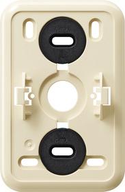 Gira Montageplaat click-it 2-voudig voor wandcontactdoos crème wit