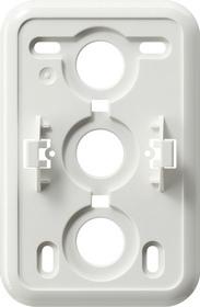 Gira Montageplaat click-it 2-voudig voor wandcontactdoos zuiver wit