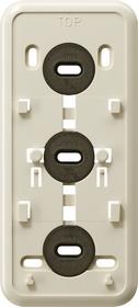 Gira Montageplaat click-it 3-voudig opbouw crème wit