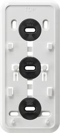 Gira Montageplaat click-it 3-voudig opbouw zuiver wit