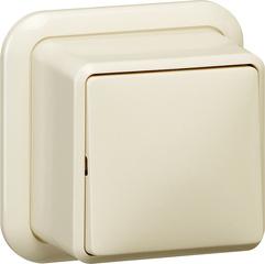 Gira Wipschakelaar uit 2-polig + K/P opbouw crème wit