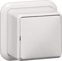 Gira Wipschakelaar uit 2-polig + K/P opbouw zuiver wit