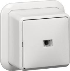 Gira Wipcontroleschakelaar uit-wis + K/P opbouw zuiver wit