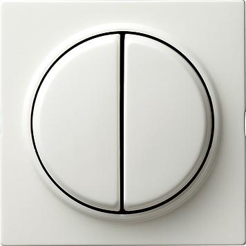 Gira S-color drukvlakschakelaar serieschakelaar zuiver wit (012540)