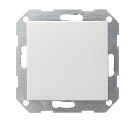 Gira drukvlakschakelaar wissel met bedieningswip - zuiver wit (012603)