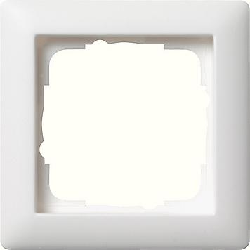 Gira Standaard 55 afdekraam 1-voudig  - zuiver wit mat (021104)