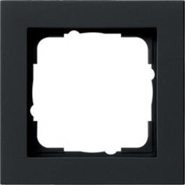 Gira E2 afdekraam 1-voudig zwart mat