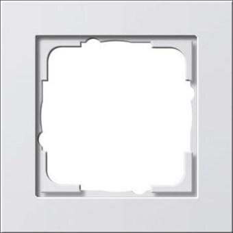 Gira E2 afdekraam 1-voudig - wit mat (021122)