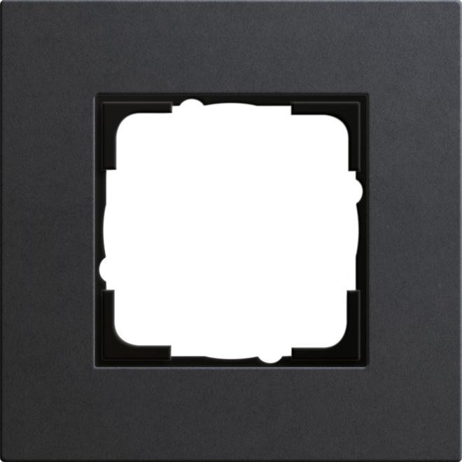 Gira Esprit afdekraam 1-voudig linoleum-multiplex antraciet