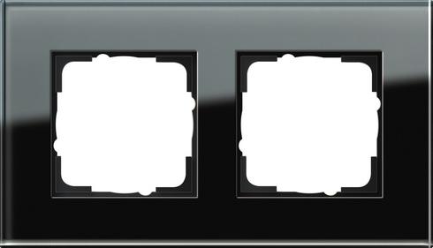 Gira Esprit afdekraam 2-voudig glas zwart