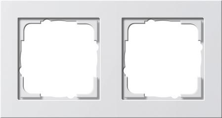 Gira E2 afdekraam 2-voudig - wit mat (021222)