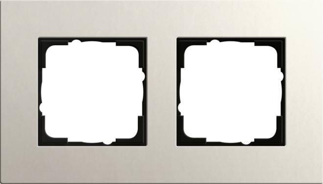 Gira Esprit afdekraam 2-voudig linoleum-multiplex lichtgrijs
