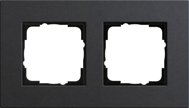 Gira Esprit afdekraam 2-voudig linoleum-multiplex antraciet