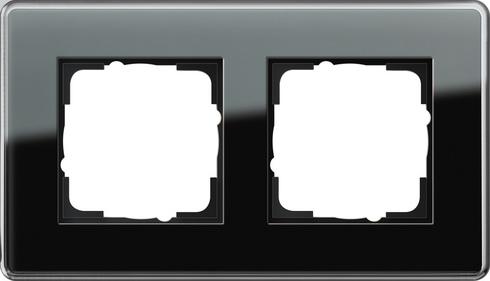 Gira Esprit afdekraam 2-voudig glas C zwart