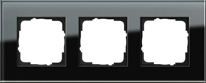 Gira Esprit afdekraam 3-voudig glas zwart