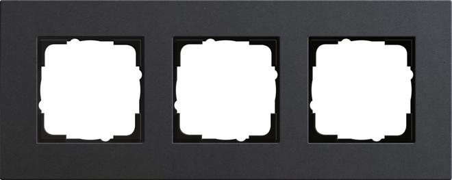 Gira Esprit afdekraam 3-voudig linoleum-multiplex antraciet