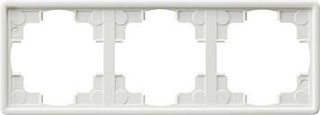 Gira S-color afdekraam 3-voudig zuiver wit (021340)