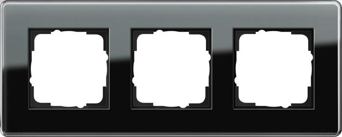Gira Esprit afdekraam 3-voudig glas C zwart