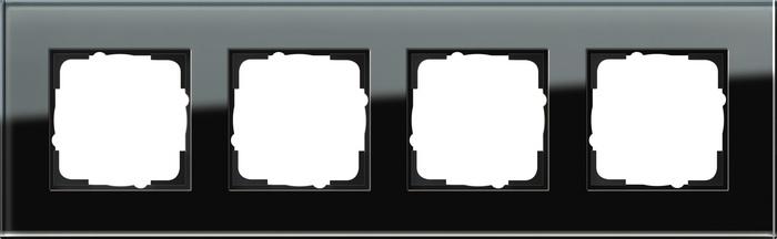 Gira Esprit afdekraam 4-voudig glas zwart