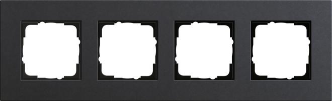 Gira Esprit afdekraam 4-voudig linoleum-multiplex antraciet