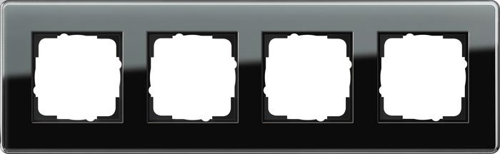 Gira Esprit afdekraam 4-voudig glas C zwart