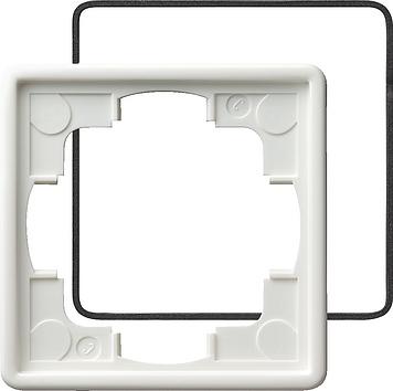 Gira S-color afdekraam 1-voudig IP21 zuiver wit (025140)