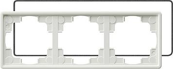 Gira S-color afdekraam 3-voudig IP21 zuiver wit (025340)