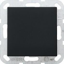 Gira systeem 55 blindplaat - zwart mat 0268005