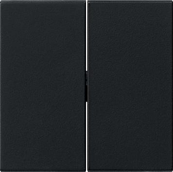 Gira bedieningswip serie/wissel-wissel systeem 55 - zwart mat 0295005