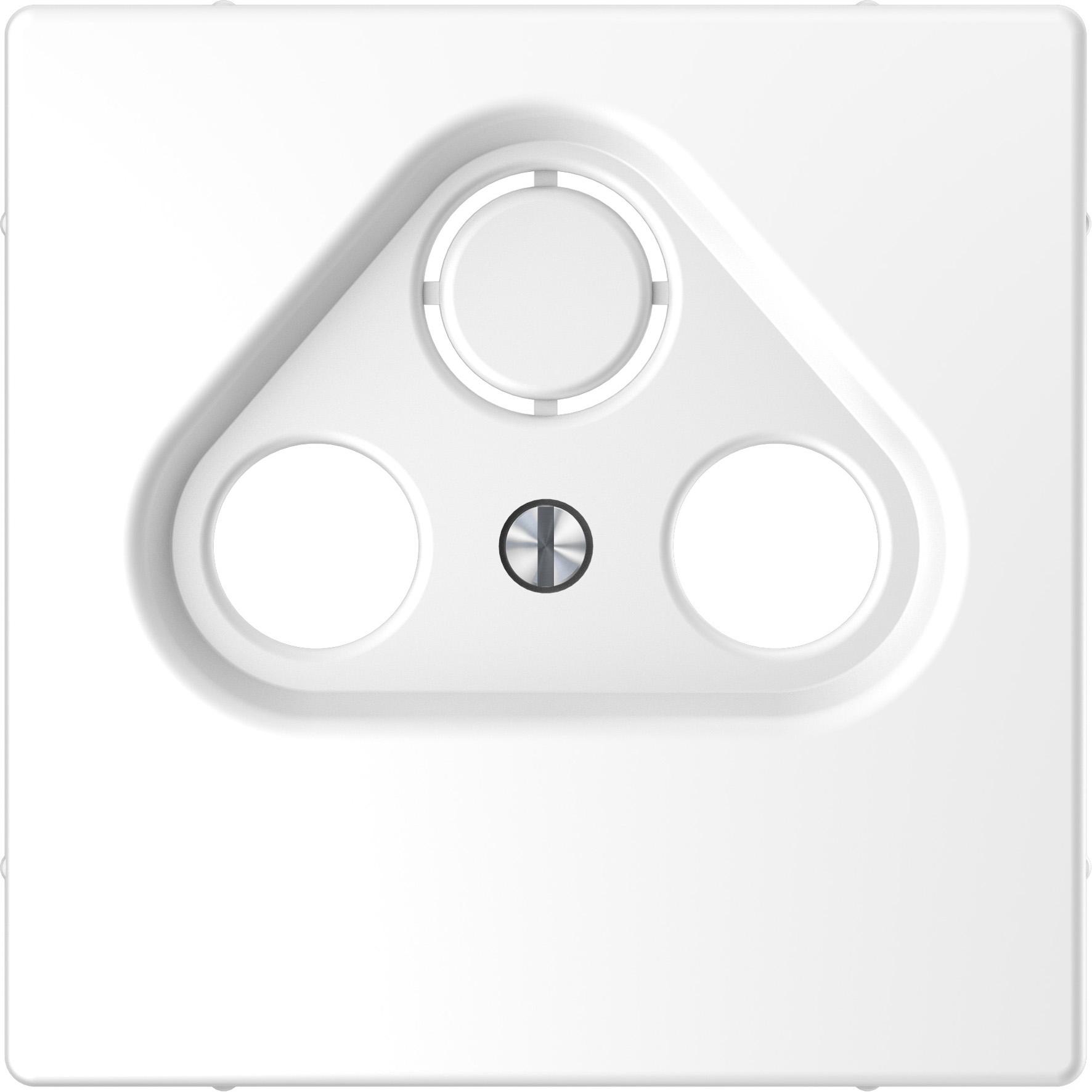 Schneider-Merten D Life centraalplaat voor CAI & schotel - lotuswit (MTN4123-6035)