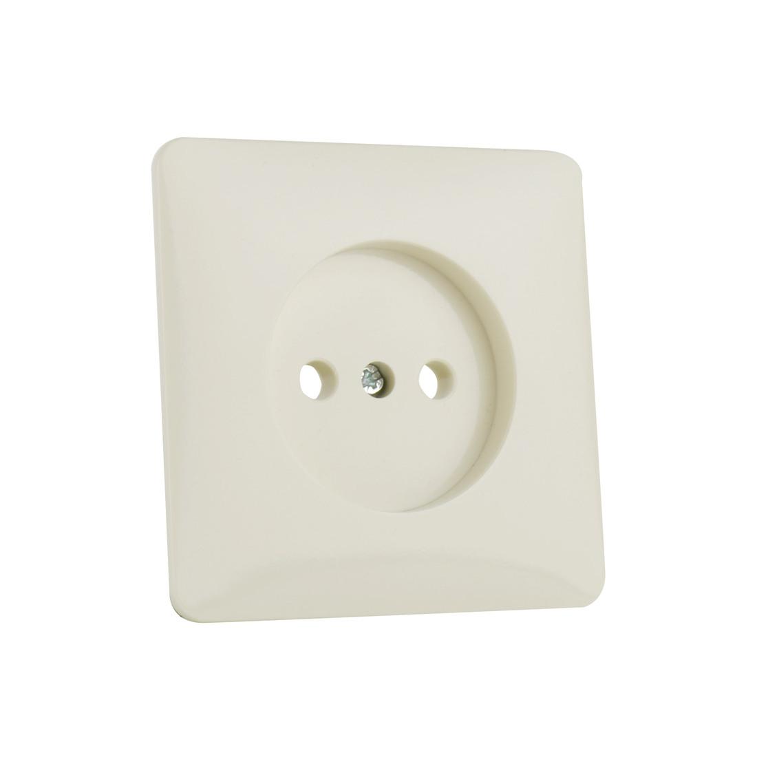 PEHA stopcontact zonder randaarde 1 voudig - standaard crème wit (H 80.1960 W)
