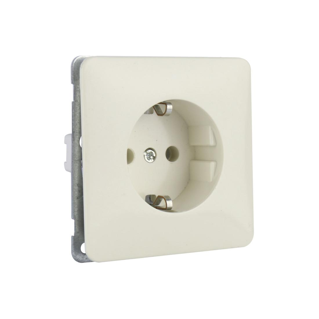 PEHA stopcontact met randaarde 1 voudig - standaard crème wit (D 80.6511 W)