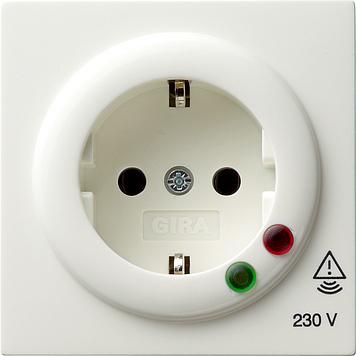 Gira S-color wandcontactdoos met randaarde en overspanningsbeveiliging zuiver wit (045140)