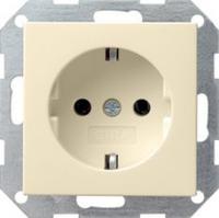 Gira stopcontact met randaarde 1-voudig - crème wit (046601)