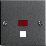 Gira inzetplaat trekschakelaar systeem 55 - antraciet 063828