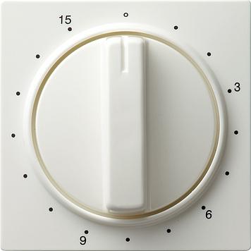 Gira S-color afdekking tijdschakelaars 15 min zuiver wit (064040)