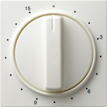 Gira S-color afdekking tijdschakelaar 15 min zuiver wit (064040)