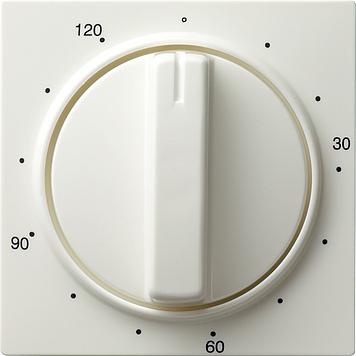 Gira S-color afdekking tijdschakelaar 120 min zuiver wit (064240)