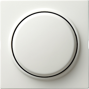 Gira S-color afdekking draaidimmer zuiver wit (065040)