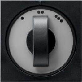 Gira 3-standen (ventilator) schakelaar systeem 55 - zwart mat 0665005